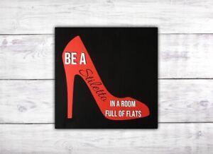 Stiletto and Flats Fashion Wall Art   High Heels Girly Wall Art   Glam Decor