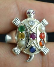 Navratan Gemstone 925 Sterling Solid Silver Birthstone Tourtoice/Fungsui Rings