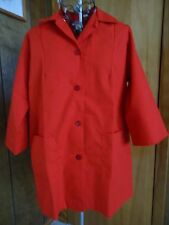 Nwot Womens Medium S & H Uniform Red Smock Top Two Pockets