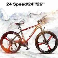 """Men/Women 24Speed 24""""/26"""" Wheel MTB Frames Full Suspension Mountain Bike/Bicycle"""