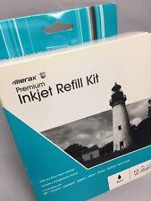 Merax Premium Injet Refill Kit Black Ink HP Canon Lexmark Epson Xerox Sharp NIP