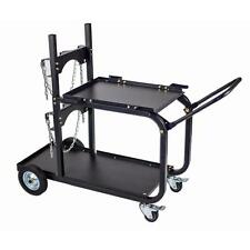 Steel Single Dual Bottle Heavy Duty Universal Welding Cart Fold Down Handle