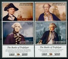 Nevis 2005 MNH Battle of Trafalgar Cornwallis 4v Set Military Ships Stamps