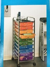 NEW Service Cart With Drawer Rolling Cart With Drawers Seville 10 Drawer Cart