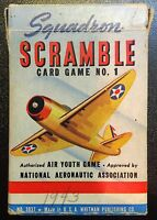 Vintage 1942 WWII Squadron Scramble Card Game World War 2 COMPLETE