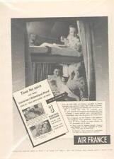 AIR FRANCE publicité 1954 Super Constellation Airline AVION aéronautique TBE