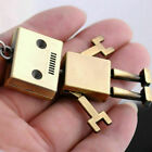 1*Cute Movable Metal Robot Keychain Keyring Key Chain Ring Bag Purse Pendant