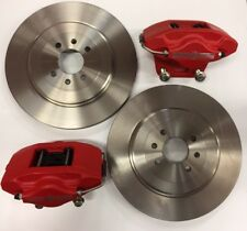 MG TF / MGF /  LE500 BRAND NEW RED 2 POT AP CALIPERS 304MM DISCS AND BRAKE PADS