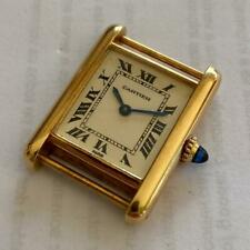CARTIER TANK PARIS 18KT SOLID GOLD VINTAGE LADIES WATCH 100% GENUINE MANUAL WIND