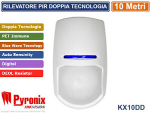 PYRONIX HIKVISION KX10DTP RILEVATORE PIR DOPPIA TECNOLOGIA BWT PET IMMUNE 10 MT