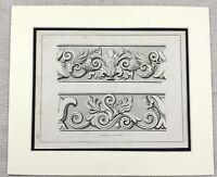 1859 Stampa Antico Greco Architettura Ornamentale Bordo Design Originale Antico