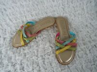 Italian Shoemakers Cork Bottom Sandals Women's Size 6.5