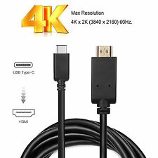 6FT Type C USB-C USB 3.1 Male To HDMI Cable 3D & 4K@60Hz 2160P For Macbook 2016
