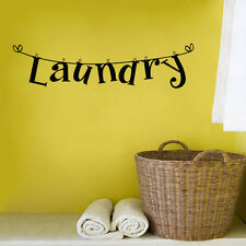 Wall Sticker For Laundry Room Decor Vinyl Arts Mural Removable Decal Washhouse