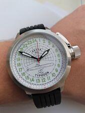 Russian 24-Hour Watch Submarine TYPHOON (Akula) White 52 mm