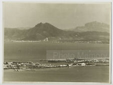 La Goulette, Golfe de Tunis & Djebel Boukornine - Photo ancienne Tunisie c. 1935