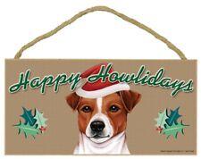 "JACK RUSSEL--Happy Howlidays--Dog Decorative Wood Plaque/Sign 5"" x 10"""