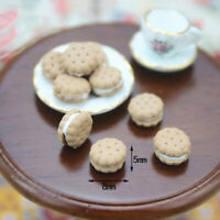 1:12 Miniature Sandwich Biscuit Dollhouse Diy Doll House Decor Accessories EB