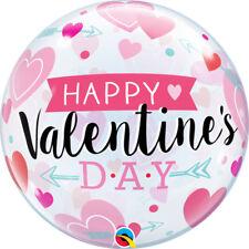 Party Supplies Happy Valentines Day Hearts & Arrow Bubble Balloon