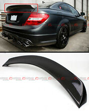 FOR 2012-15 MERCEDES BENZ C63 AMG 2 DOOR CARBON FIBER HIGH KICK TRUNK SPOILER