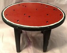 Country Wooden Watermelon Stool Primative Kitchen Painted Vintage Retro Cut