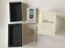 Samsung Galaxy S3 16GB Empty Box & Manual Only NO PHONE White