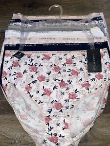 Laura Ashley ~ Women's Brief Underwear Panties 7-Pair Cotton Blend ~ M