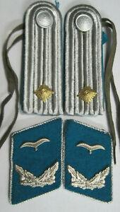 NVA Schulterstücke Flieger Leutnant NVA Effekten Kragenspiegel Luftwaffe DDR
