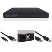 USB 2.0 External DVD Combo CD-RW CD±RW Burner Drive ROM Player PC MAC 【Black】