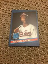 Michael Jordan 1986 Donruss Rated Rookie Style With ROTY Basketball Back Promo
