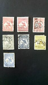 AUSTRALIA - 7 stamps * KANGAROO collection