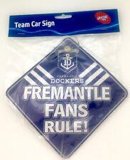 AFL Car Sign with suction cap - Fremantle Dockers - Brand New AFL Merchandise