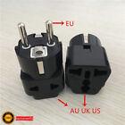 1PCS Travel Blcak AU UK US to EU AC Power Socket Plug Charger Adapter Converter