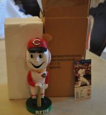 2002 Cinncinati Reds - Mr. Red team Mascot Bobblehead with ticket