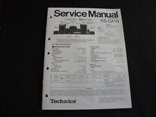 Original Service Manual Technics RS-CA10