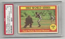 World Series Game 6, Ford Pitches 2nd Shutout 1961 Topps Card, #311, PSA EX 5