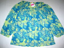 FRESH PRODUCE Daffodil Yellow MEDIUM Ocean Waters Voile Muse Tunic Top $64 NWT M