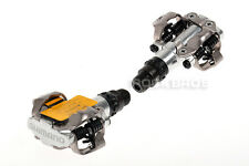 Shimano PD-M520 SPD Bike MTB Clipless Pedals Bicycle Pedals Silver