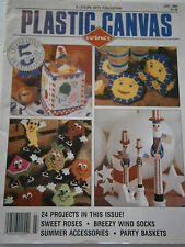 July 1994 Plastic Canvas Corner Pattern Book Magazine Fridge Magnet Tissue Box