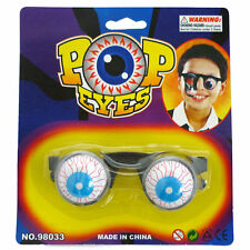 Pop Eyes Glasses Fancy Dress Halloween Accessory Costume Accessory