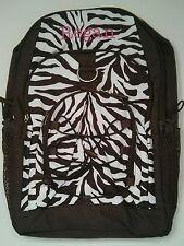 Pottery Barn PB Teen Brown White Zebra Gear Up Large Backpack name REGAN New