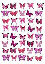 Standing Butterfly Toppers butterflies - design 3 Mix Pink (40 butterflies)
