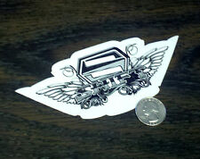 "SHIFT RACING 6"" Black Wings Vinyl Sticker Car Window Decal Motocross Riding 15cm"