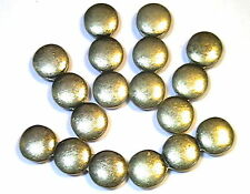 6 - 2 HOLE SLIDER BEADS 2 HOLE SPACER BEADS ANTIQUED BRASS PLATED TRIPLE CIRCLE