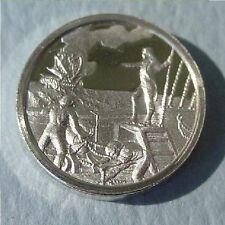 FRANKLIN Mint STERLING SILVER Mini-Ingot: 1779 JOHN PAUL JONES Navy Hero