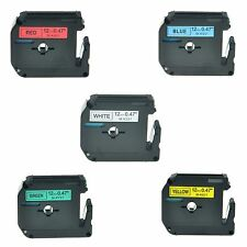 "5PK MK M-K 231 431 531 631 731 Label Tape For Brother P-Touch PT-65SB 1/2"" 12mm"
