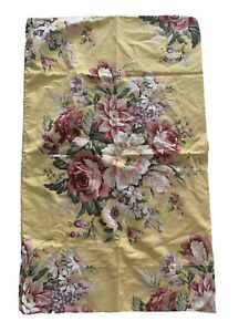 Vintage RALPH LAUREN Sophie Brooke Yellow Floral Chic Cottage Rose Standard SHAM