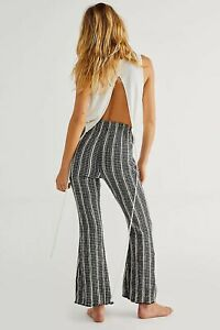 Free People Fine Line Trousers Size small pull on  pants 12/14 flared bnwt