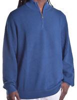 Club Room Men's $85 1/4 Zip Knit Merino Wool Blend Sweater Choose Color & Size
