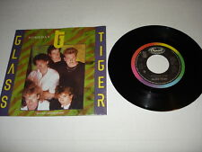 "GLASS TIGER 45 record 7"" Someday 1986 Capitol B-73004 rare PS with poster Canada"